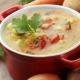 Suppe mit Käse